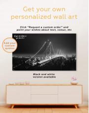 Night Golden Gate  Canvas Wall Art - Image 5