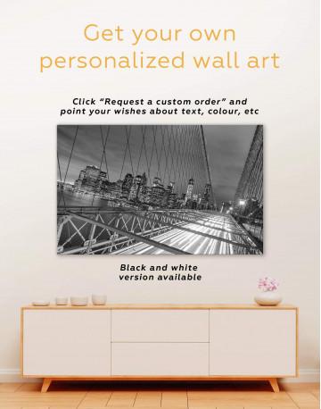 New York Brooklyn Bridge Canvas Wall Art - image 1