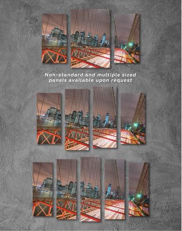 New York Brooklyn Bridge Canvas Wall Art - image 2