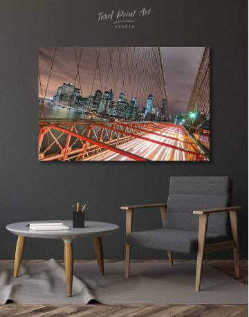 New York Brooklyn Bridge Canvas Wall Art - image 6
