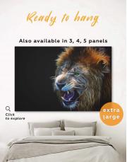 Lion  Canvas Wall Art - Image 0