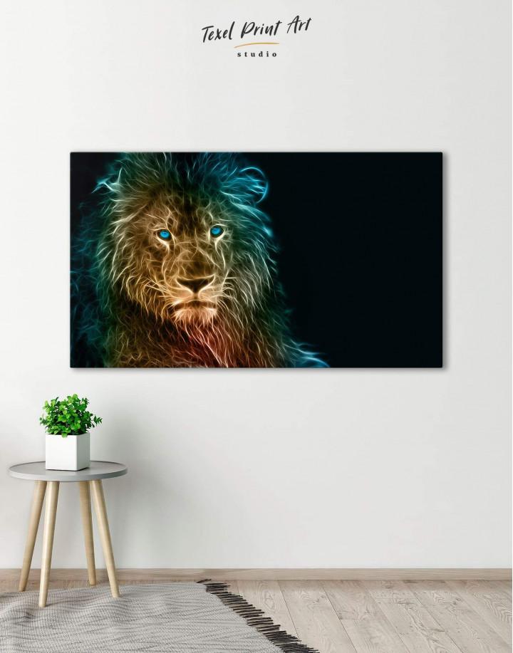 Stylized Lion  Canvas Wall Art - Image 5