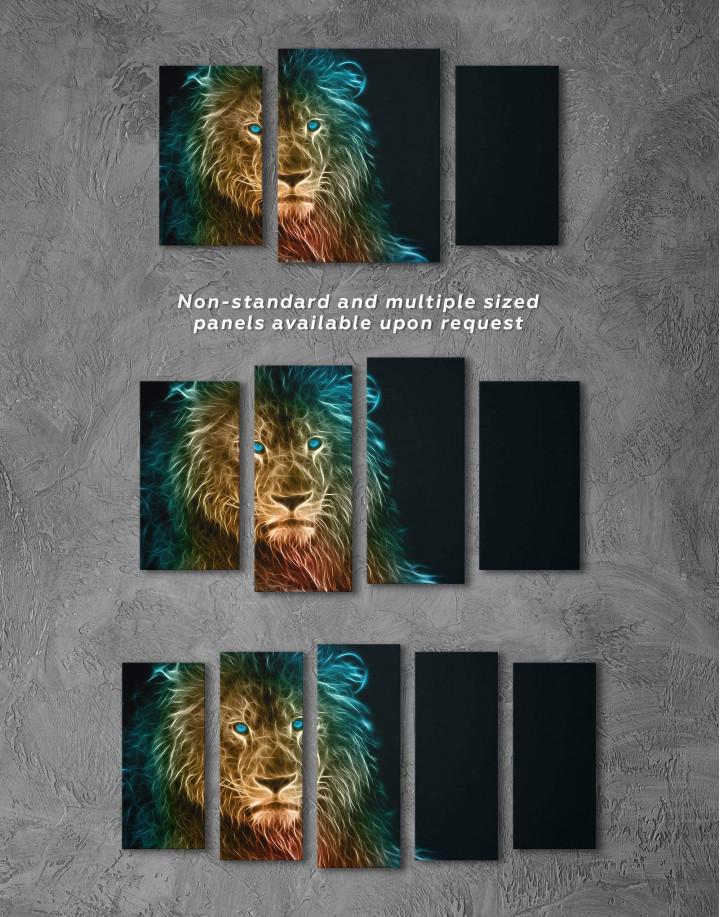 Stylized Lion  Canvas Wall Art - Image 3