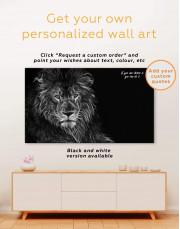 Stylized Lion  Canvas Wall Art - Image 4