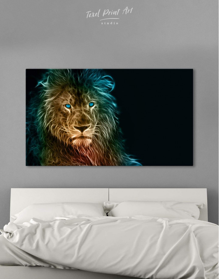 Stylized Lion  Canvas Wall Art - Image 0