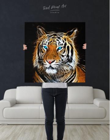 Abstract Tiger Canvas Wall Art - image 3