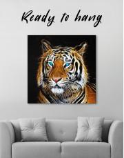 Abstract Tiger Canvas Wall Art