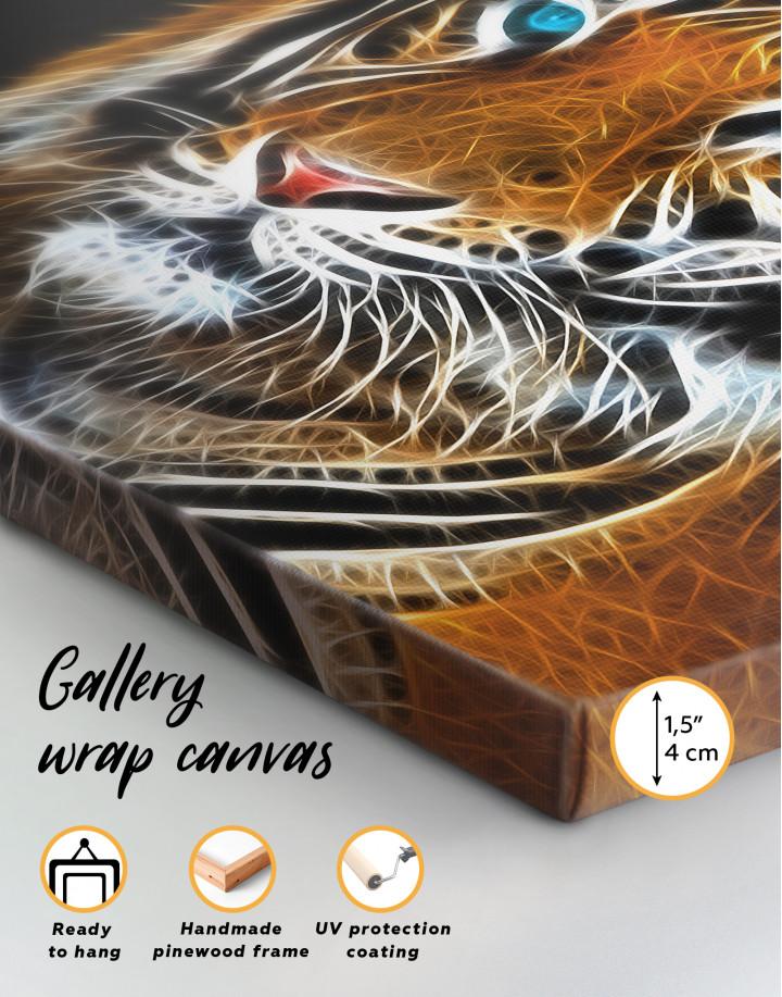 Abstract Tiger Canvas Wall Art - Image 1