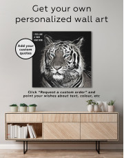 Abstract Tiger Canvas Wall Art - Image 2
