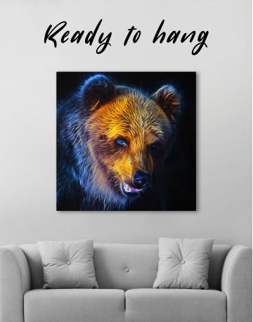 Abstract Bear Canvas Wall Art