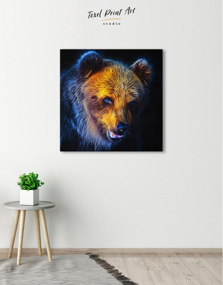 Abstract Bear Canvas Wall Art - Image 1