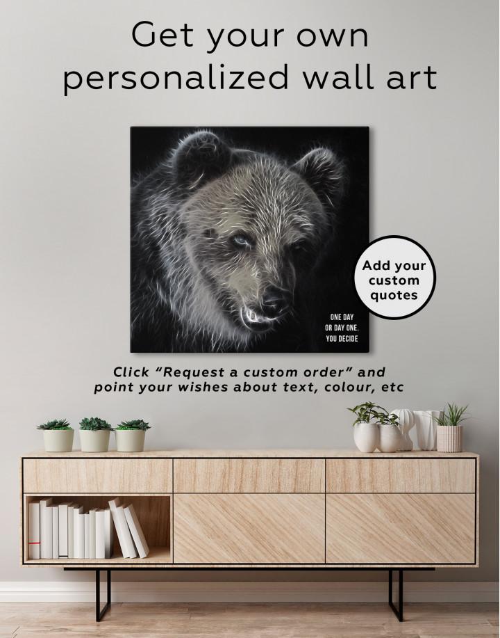 Abstract Bear Canvas Wall Art - Image 3