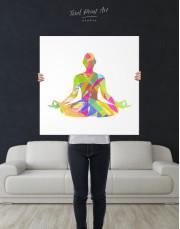 Multicolor Yoga Silhouette Canvas Wall Art - Image 2