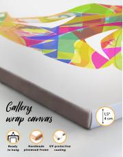 Multicolor Yoga Silhouette Canvas Wall Art - Image 3