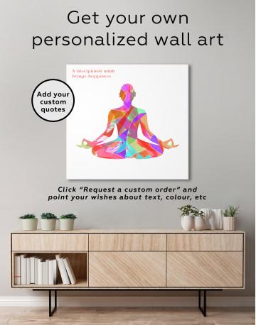 Multicolor Yoga Silhouette Canvas Wall Art - image 4
