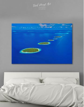 Maldives Islands Canvas Wall Art