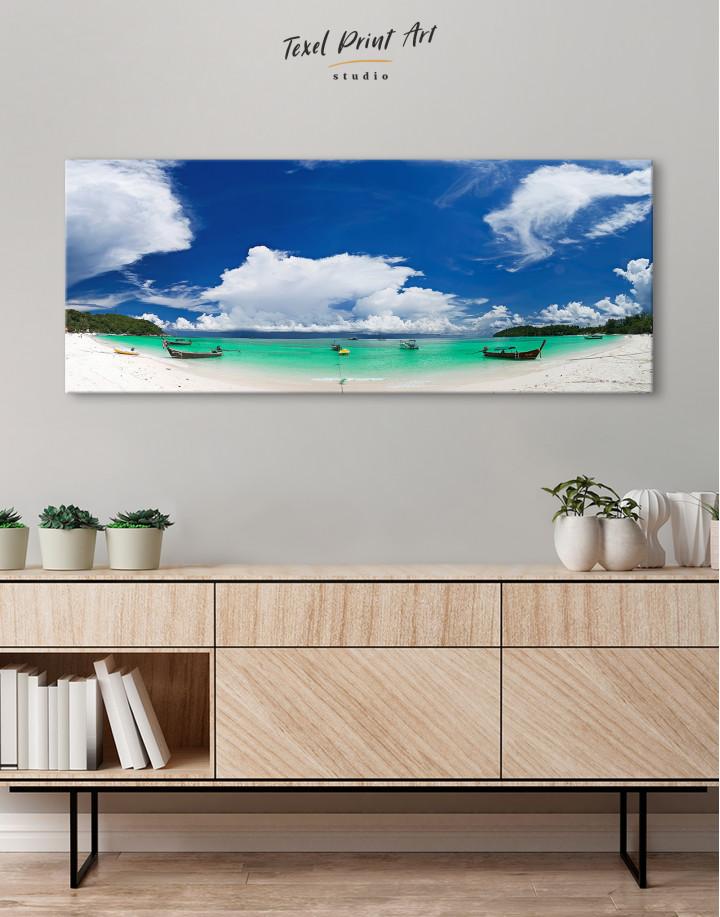 Panoramic Sea View Canvas Wall Art