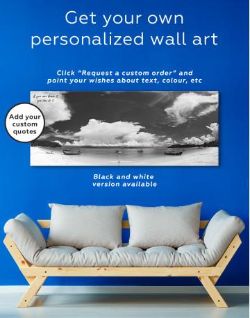 Panoramic Sea View Canvas Wall Art - image 3