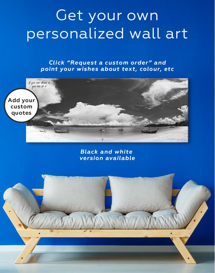 Panoramic Sea View Canvas Wall Art - Image 2