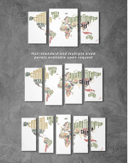 Country Names Map  Canvas Wall Art - Image 2