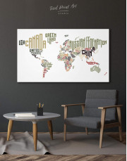 Country Names Map  Canvas Wall Art - Image 5