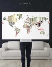 Country Names Map  Canvas Wall Art - Image 4