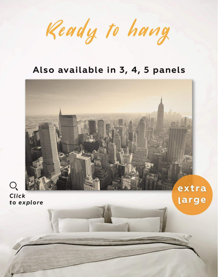 New York Cityscape  Canvas Wall Art - Image 0