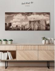 Retro Brooklyn Bridge Canvas Wall Art