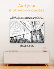 Brooklyn Bridge New York Canvas Wall Art - Image 1