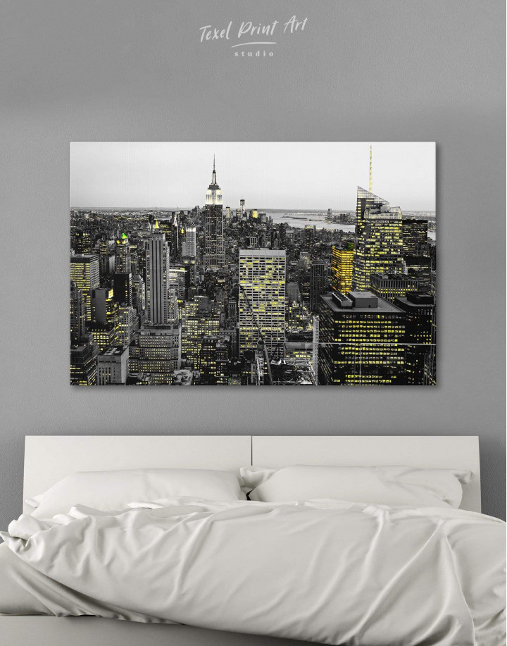 New York Skyline Black and White Canvas Wall Art - Image 6