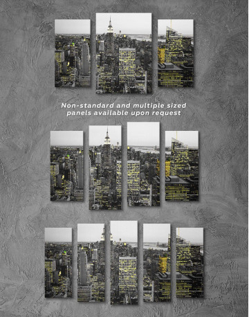 New York Skyline Black and White Canvas Wall Art - image 2