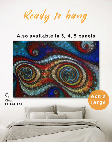 Trippy Circle Canvas Wall Art