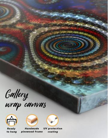 Trippy Circle Canvas Wall Art - image 2