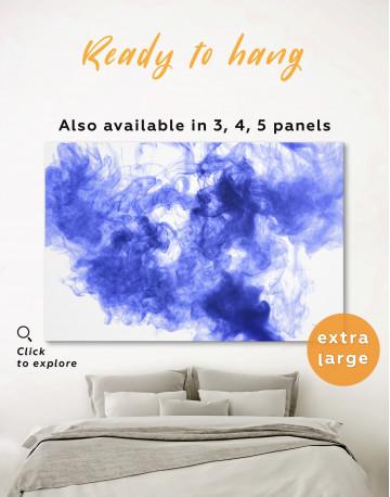 Blue Smoke Canvas Wall Art