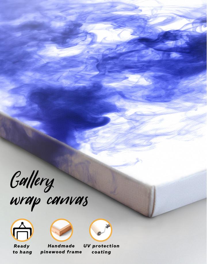 Blue Smoke Canvas Wall Art - Image 2
