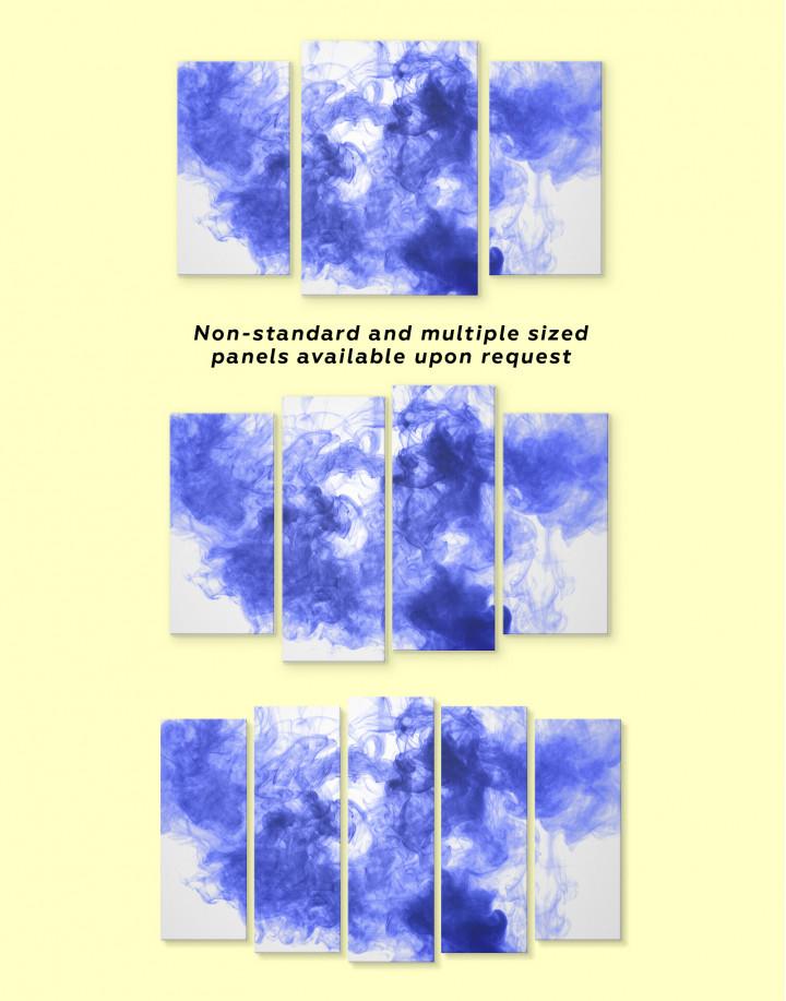 Blue Smoke Canvas Wall Art - Image 3