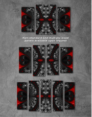 Abstract Black and Red Ornaments Canvas Wall Art - Image 4