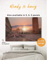 Piazza San Marco Italy Canvas Wall Art - Image 0