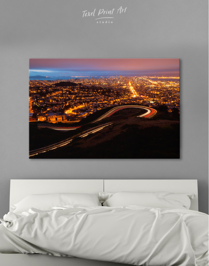 Twin Peaks San Francisco Canvas Wall Art - Image 3