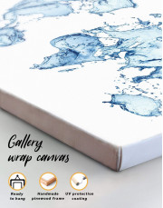 Water World Map Canvas Wall Art - Image 4