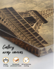 Old-Style Eiffel Tower Canvas Wall Art - Image 4