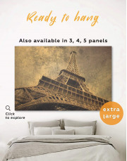 Old-Style Eiffel Tower Canvas Wall Art - Image 0