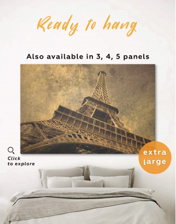Old-Style Eiffel Tower Canvas Wall Art