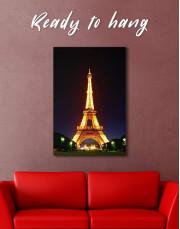 Eiffel Tower at Night Canvas Wall Art - Image 3