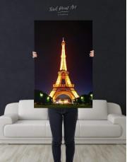 Eiffel Tower at Night Canvas Wall Art - Image 2