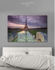 Evening Paris Canvas Wall Art - Image 1