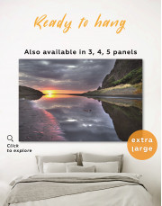 Cloudy Landscape With Sunrise Canvas Wall Art