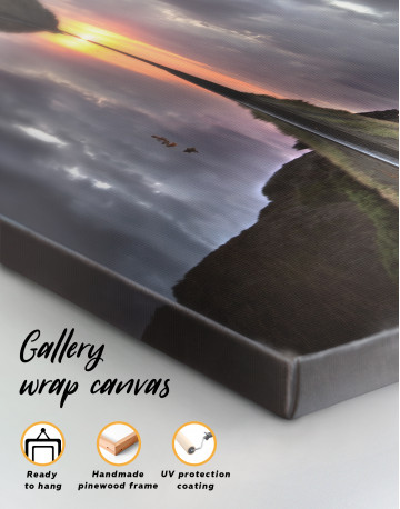 Cloudy Landscape With Sunrise Canvas Wall Art - image 3