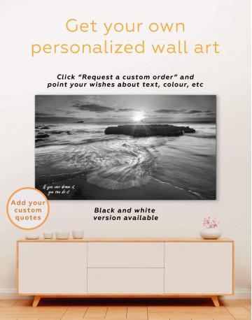 Coastal Beach Canvas Wall Art - image 1
