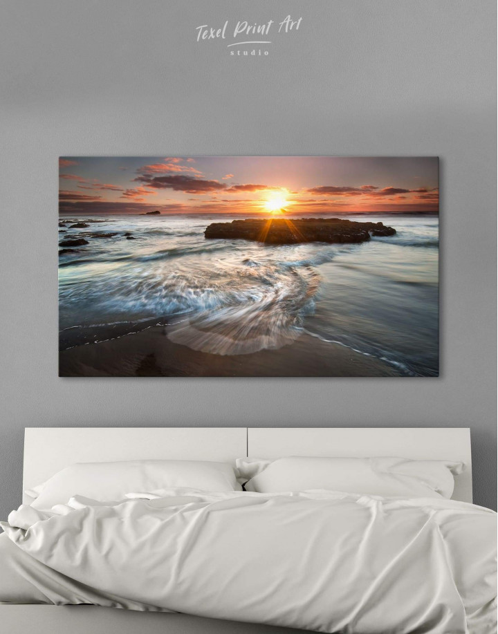 Coastal Beach Canvas Wall Art